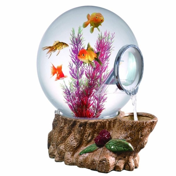 shop magic globe forest tree waterfall aquarium free shipping