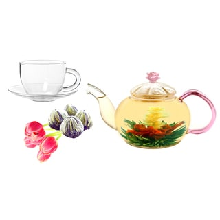 Tea Beyond Jasmine Juliet Fab Flowering Tea and Cup Set