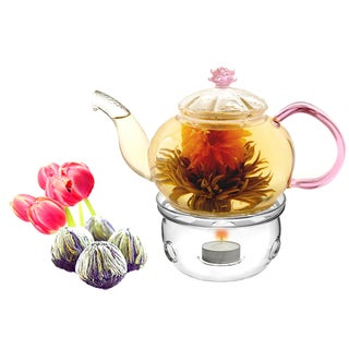 Tea Beyond Fab Flowering Tea Juliet Set and Tea Wamer Cozy