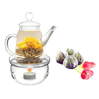 Tea Beyond Fab Flowering Tea DUO Set and Tea Warmer Cozy
