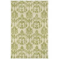 Swanky Green Ikat Wool Rug (8' x 11')