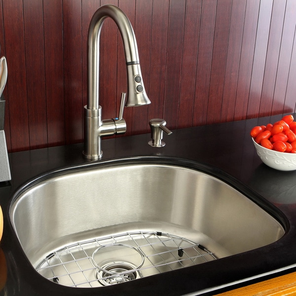 kitchen sink and faucet combinations shop undermount stainless steel 23 5 inch single bowl 24896