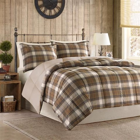 Woolrich Lumberjack Multi Classic Quilting Soft and Cozy Microfiber Solid Reverse Down Alternative Comforter Set