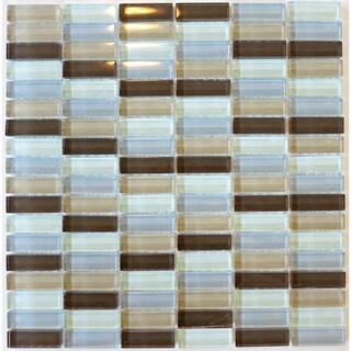 Mendocino Glass Tile Backsplash (Pack of 10)