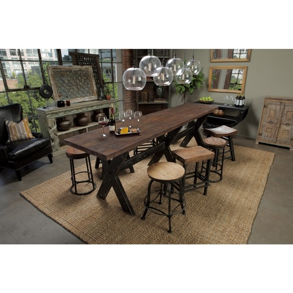 Delightful Isabella Reclaimed Wood Gathering Table By Kosas Home