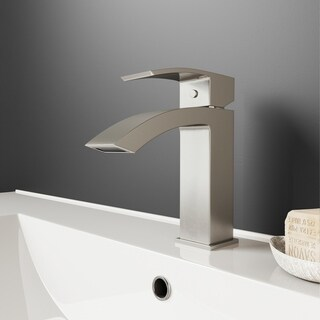 VIGO Satro Single Hole Bathroom Faucet in Brushed Nickel