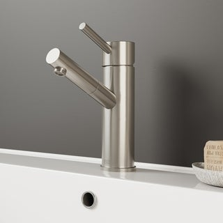 VIGO Noma Bathroom Single Hole Faucet in PVD Brushed Nickel