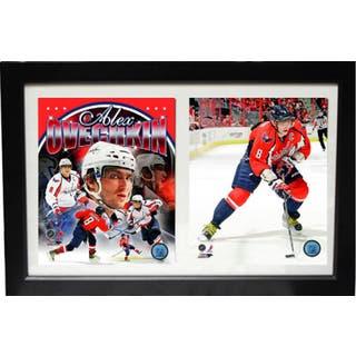 Washington Capitals Alexander Ovechkin 12 x 18 Custom Framed Double Print 886b648428a