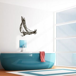 'Man in a Boat' Interior Vinyl Wall Decal