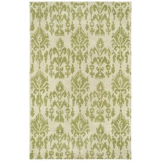 Swanky Green Ikat Wool Rug (7'6 x 9')