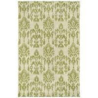 Swanky Green Ikat Wool Rug - 7'6 x 9'