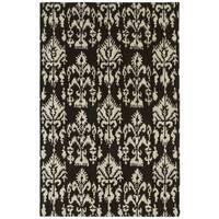 Swanky Black Ikat Wool Rug - 9'6 x 13'