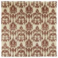Swanky Terracotta Ikat Wool Rug - 7'9 x 7'9