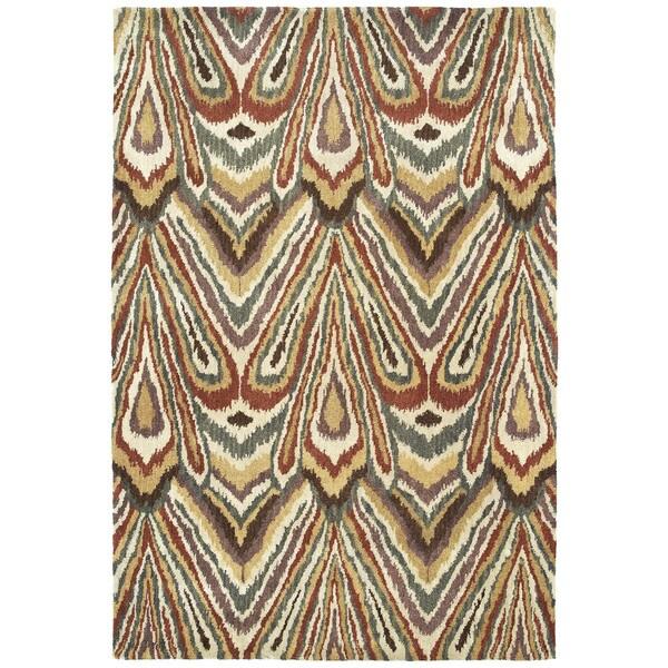 Swanky Multi Ikat Wool Rug - 5' x 7'6