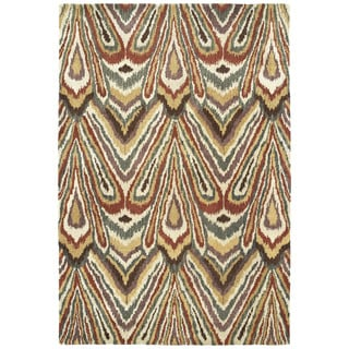 Swanky Multi Ikat Wool Rug (5' x 7'6)