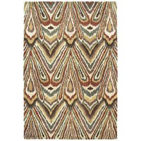 Swanky Multi Ikat Wool Rug - 7'6 x 9'