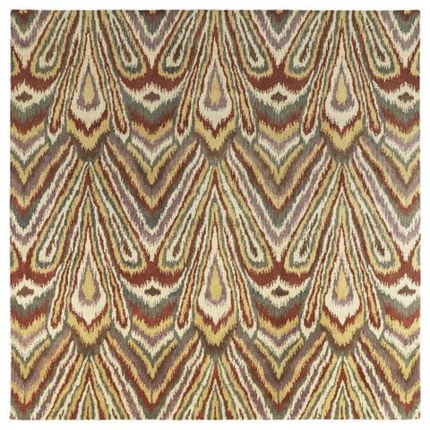 "Swanky Multi Ikat Wool Rug (7'9 x 7'9 Square) - 7'9"" Square"