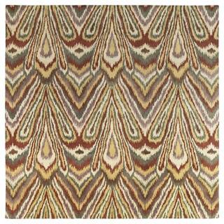 Swanky Multi Ikat Wool Rug (7'9 x 7'9 Square)