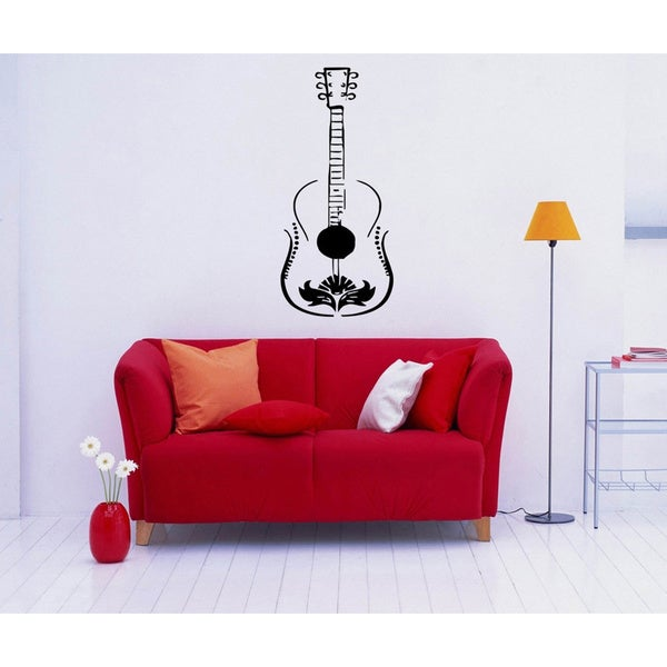 'Guitar' Interior Vinyl Wall Decal