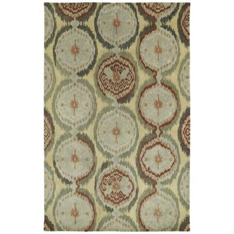 "Swanky Multi Ikat Damask Wool Rug (9'6 x 13') - 9'6"" x 13'"