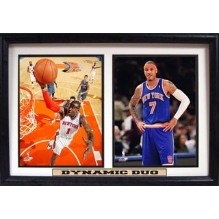 Amare Stoudemire and Carmelo Anthony 'Dynamic Duo' 12 x 18-inch Framed Plaque