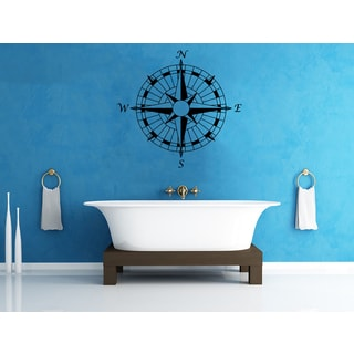'Compass Rose' Interior Vinyl Wall Decal
