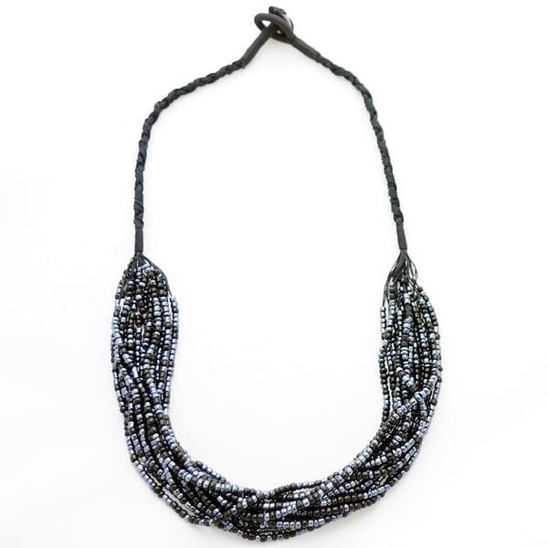 1 World Sarongs Women's 14 Strand Glass Bead Necklace (Indonesia)