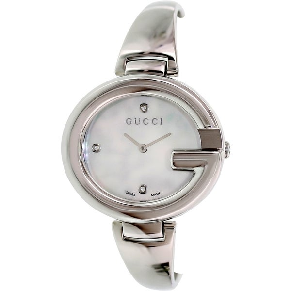 71c2c266ec5 Shop Gucci Women s  Guccissima  Fashion Bangle Mother-of-Pearl Watch ...