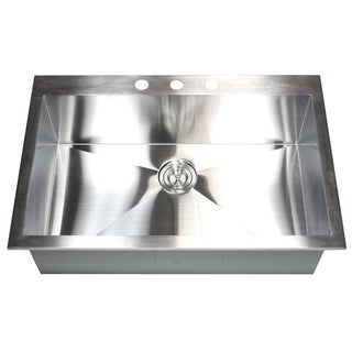 16 Gauge Stainless Steel Kitchen Sink Top Mount