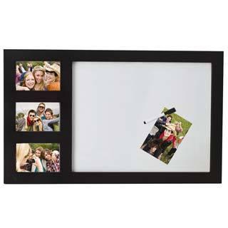 Melannco Black 3-photo and White Board Frame