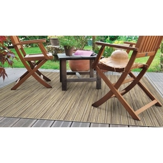 Samantha Diva Sand/Multi Outdoor Area Rug - 7'6 x 10'9