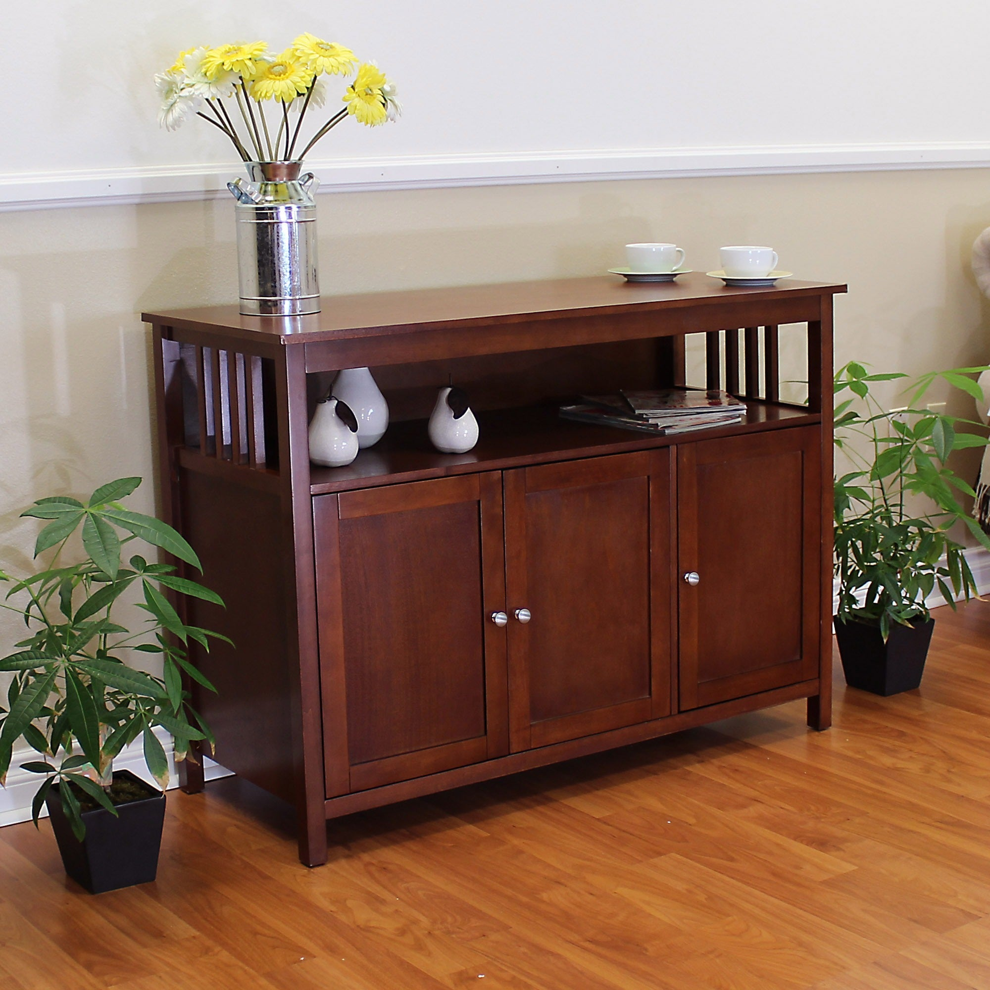 Hollydale Chestnut Mission Style Sideboard Sofa Table