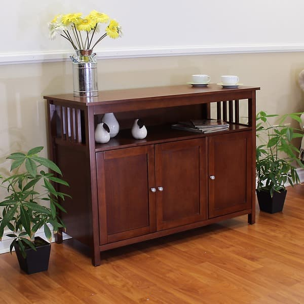 Pleasant Shop Hollydale Chestnut Mission Style Sideboard Sofa Table Pdpeps Interior Chair Design Pdpepsorg