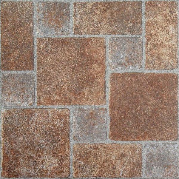 Nexus brick pavers 12x12 self adhesive vinyl floor tile for 12 inch floor tile