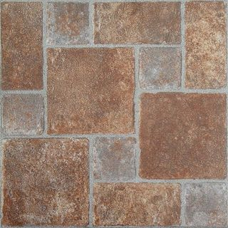 Nexus Brick Pavers 12x12 Self Adhesive Vinyl Floor Tile - 20 Tiles/20 sq Ft.