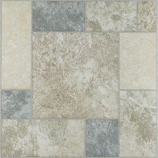 Nexus Marble Blocks 12x12 Self Adhesive Vinyl Floor Tile - 20 Tiles/20 sq Ft.
