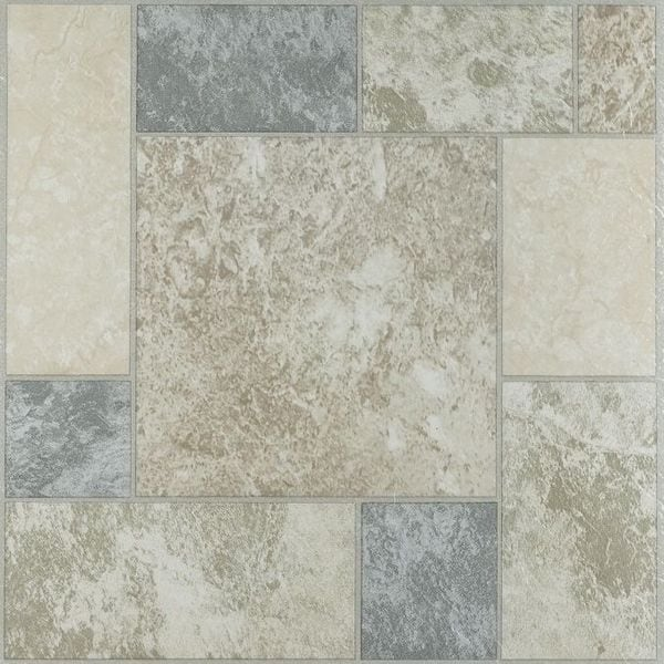 Super Achim Nexus Marble Blocks 12X12 Self Adhesive Vinyl Floor Tile 20 Tiles 20 Sq Ft Multi Color Home Remodeling Inspirations Basidirectenergyitoicom