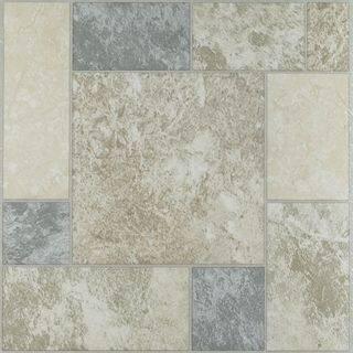 Achim Nexus Marble Blocks 12x12 Self Adhesive Vinyl Floor Tile - 20 Tiles/20 sq. ft. - Multi-color