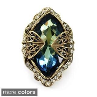 Sweet Romance Marquis Crystal Navette Adjustable Ring
