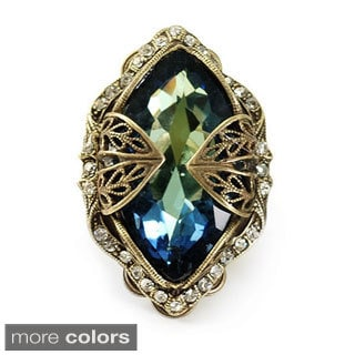 Sweet Romance Marquis Crystal Navette Adjustable Ring