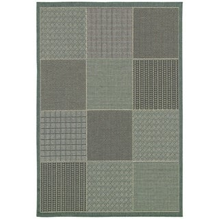 Monaco Vistimar/ Blue-Grey Area Rug (3'9 x 5'5)