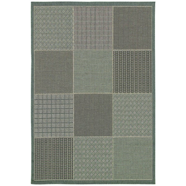 Monaco Vistimar/ Blue-Grey Area Rug - 7'6 x 10'9