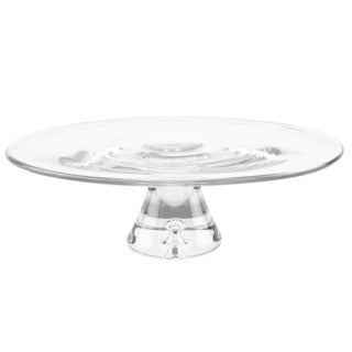 Galaxy Mouth Blown 13 in. D x 4 in. H Pedestal Cake Plate