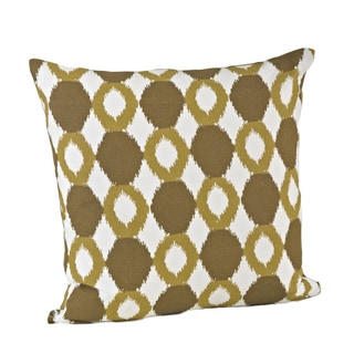 Ikat Design Cotton Feather Filled  Throw Pillow