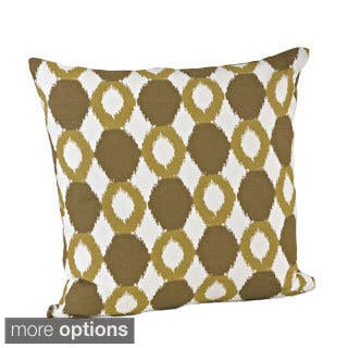 Ikat Design Cotton Feather Filled Throw Pillow (Option: 18 X 18)|https://ak1.ostkcdn.com/images/products/8496498/Ikat-Design-Cotton-Feather-Filled-Throw-Pillow-P15782690.jpg?impolicy=medium