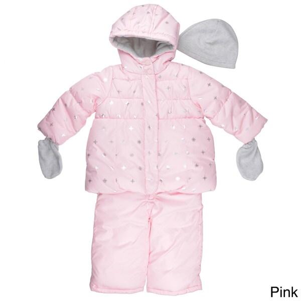 Carter's Girl's Hooded Snowflake Print Snowsuit