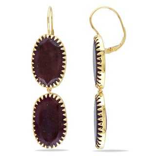 Miadora Signature Collection 14k Yellow Gold Ruby Earrings
