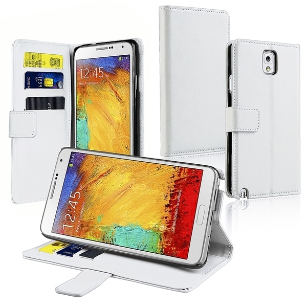 INSTEN Stand Leather Phone Case Cover with Card Slot for Samsung Galaxy Note III