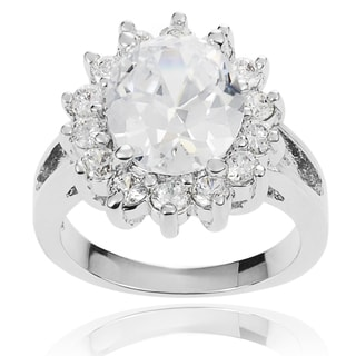 Journee Collection Basket-set Cubic Zirconia Bridal-style Ring