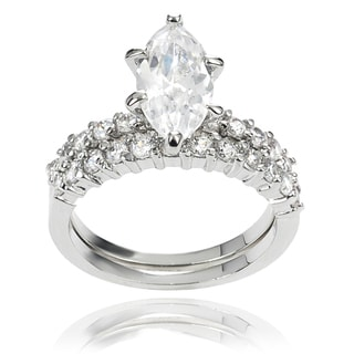 Journee Collection Cubic Zirconia Bridal-style Ring Set